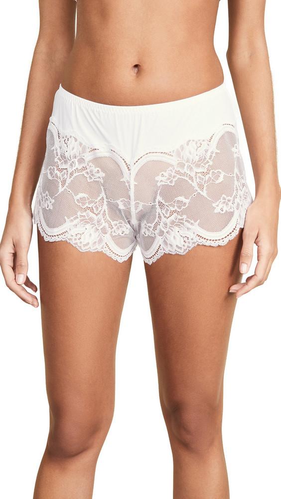 Natori Vow Tap Boy Shorts in white