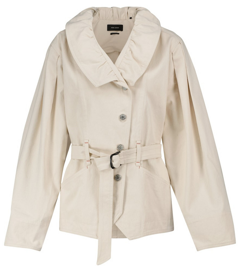 Isabel Marant Dipazo cotton denim jacket in white