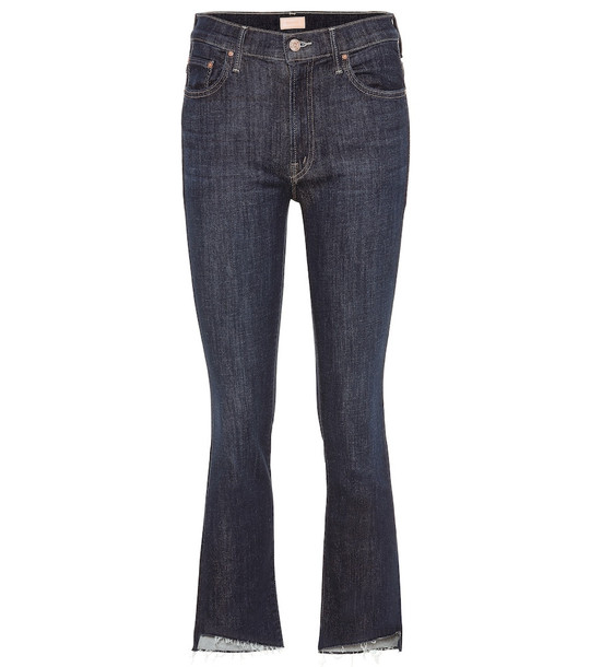 Mother The Insider cropped jeans in blue