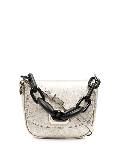RED Valentino metallic leather crossbody bag in gold