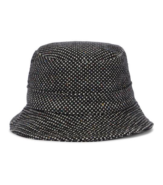 Gabriela Hearst Checked cashmere bucket hat in black