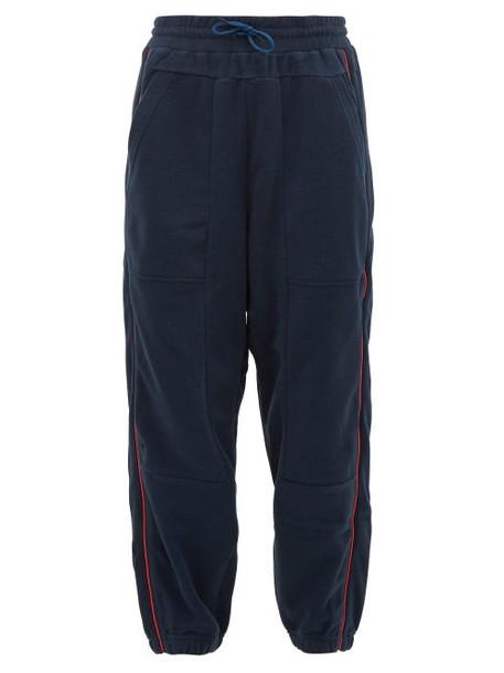 Lndr - Ember Side Stripe Technical Jersey Track Pants - Womens - Blue