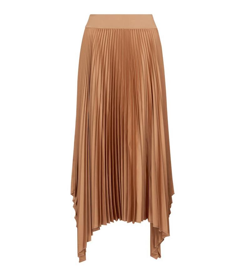 JOSEPH Ade pleated midi skirt in beige
