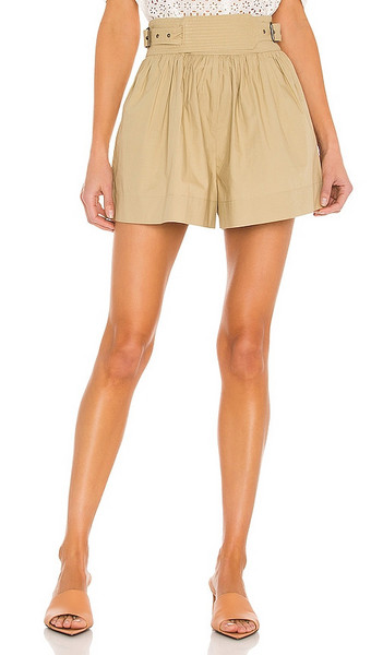 Ulla Johnson Adeline Shorts in Beige in khaki