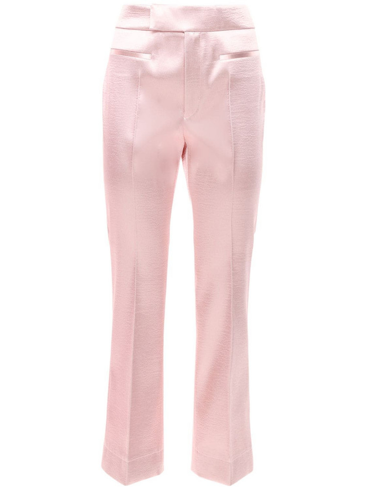PHILOSOPHY DI LORENZO SERAFINI Satin Straight Pants in pink