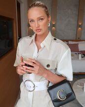 top,shirt,safari,romee strijd,model off-duty,instagram