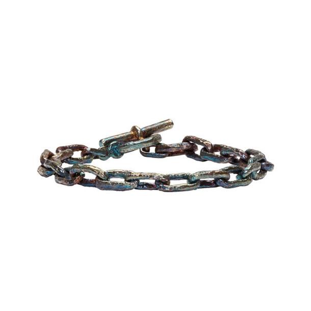 Pearls Before Swine Silver Link Bracelet