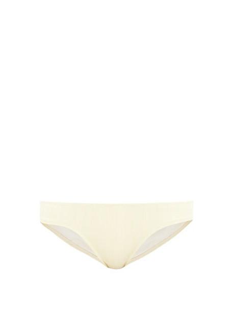Solid & Striped - Elle Striped Bikini Briefs - Womens - Cream