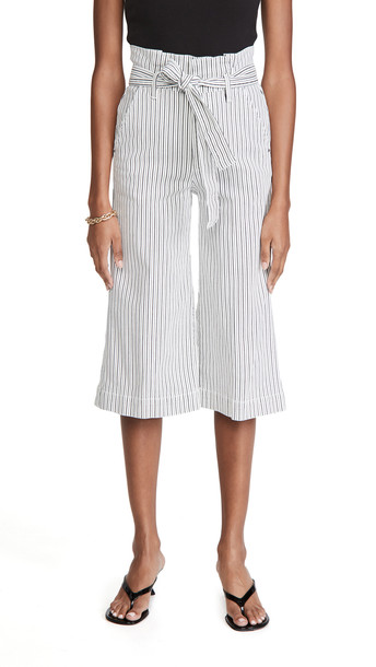 FRAME Belted Pleated Culottes in multi