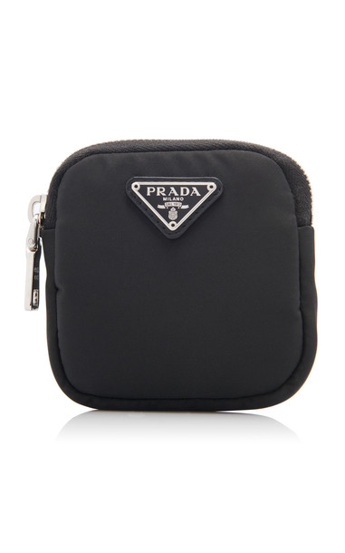 Prada Logo-Detailed Nylon Pouch in black