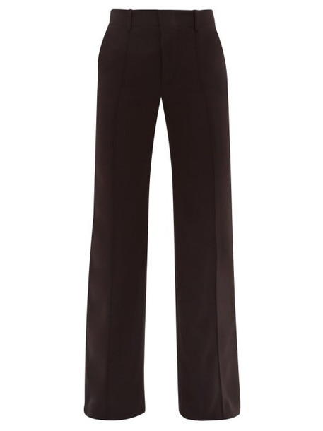 Chloé Chloé - Tailored Flare Crepe Trousers - Womens - Black