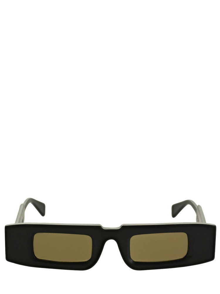 KUBORAUM BERLIN X5 Squared Acetate Sunglasses in black / brown