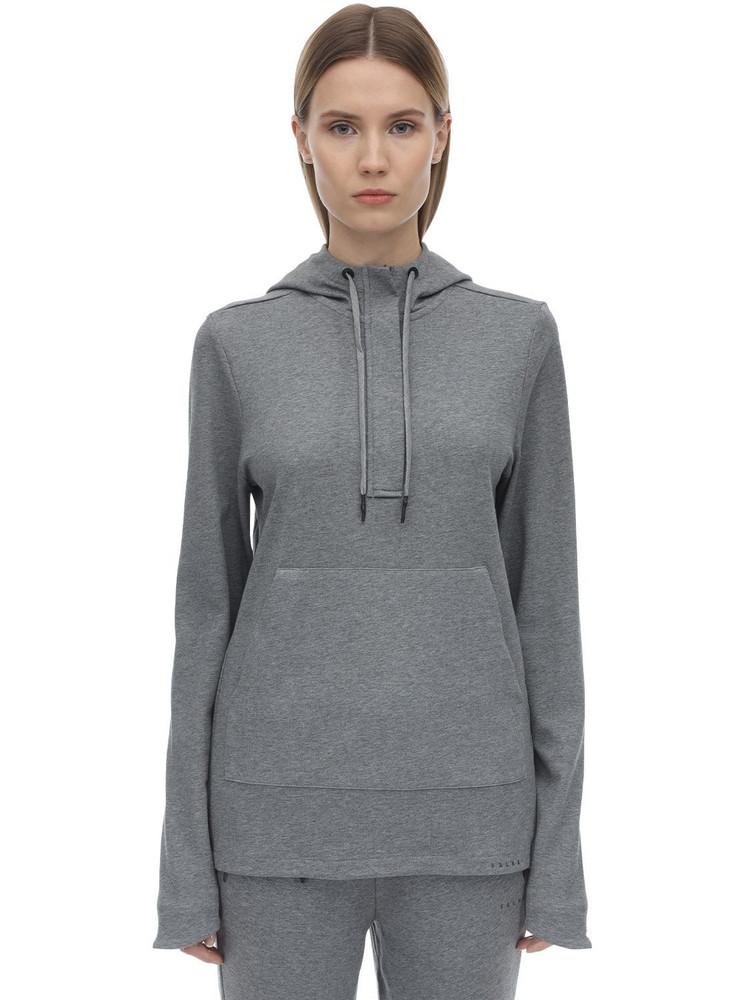 FALKE Cotton Sweatshirt Hoodie in grey