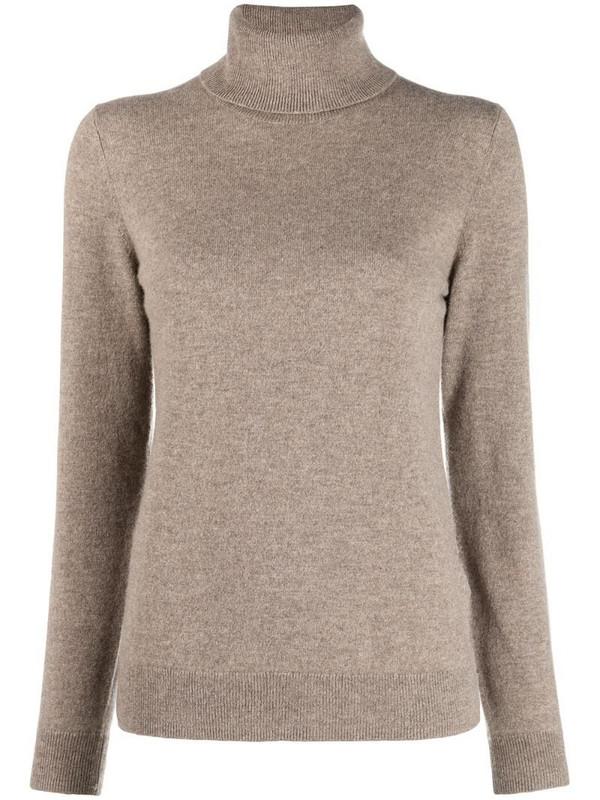 12 STOREEZ roll neck cashmere jumper in neutrals