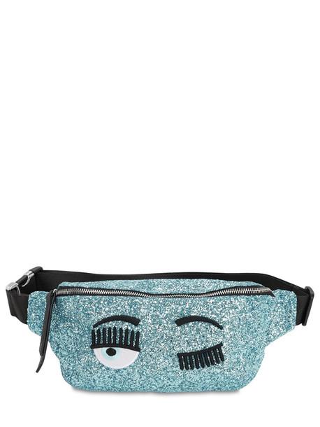 CHIARA FERRAGNI Glittered Belt Bag in blue