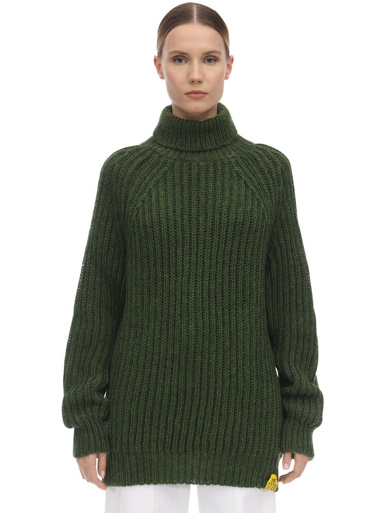 AALTO Hand Wool Blend Knit Jumper in green