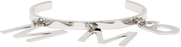 MM6 Maison Margiela Silver Logo Charm Bracelet