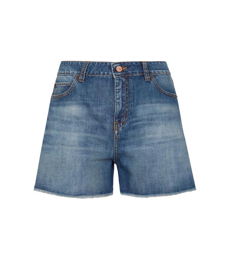 Victoria Victoria Beckham Silverlake denim shorts in blue