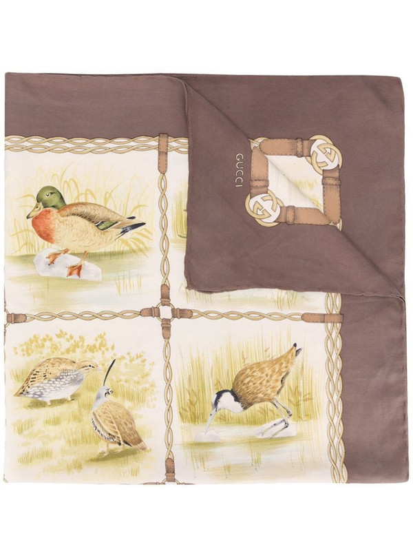 Gucci Pre-Owned 1970s Wildflow print scarf in neutrals