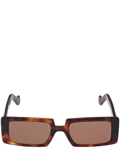 LOEWE Squared Acetate Sunglasses in brown
