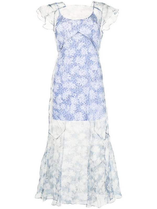 Sir. Anais floral-print dress in blue