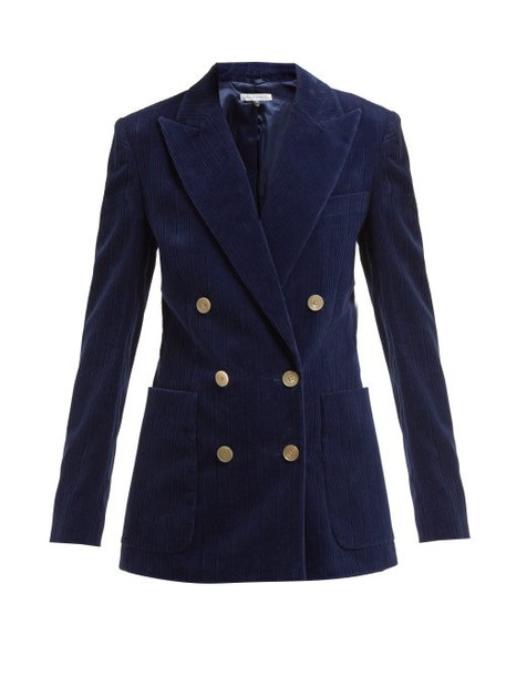 blazer double breasted navy cotton jacket