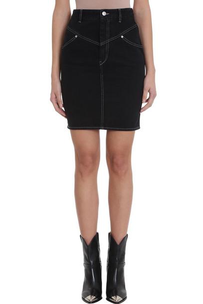 Isabel Marant Lorone Black Denim Skirt