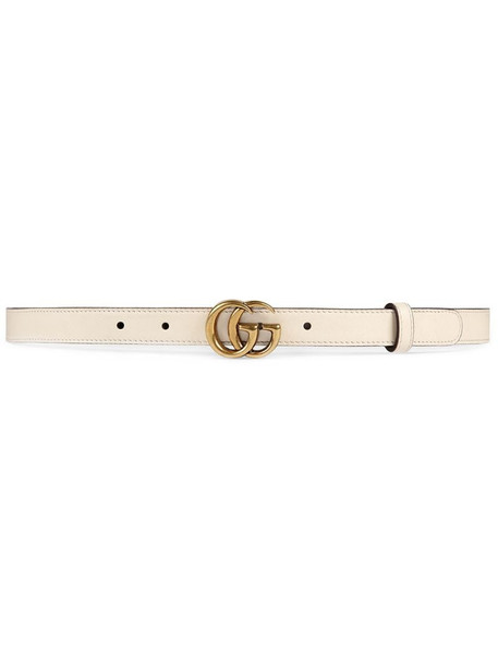 Gucci Leather belt with Double G buckle in neutrals