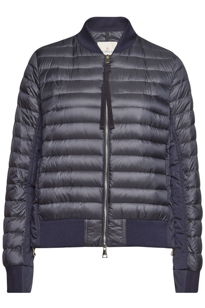 Moncler Rome Quilted Down Jacket  in blue