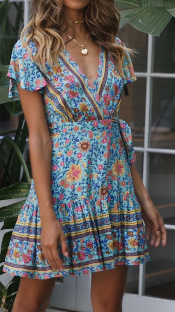 dress summer dress floral dress