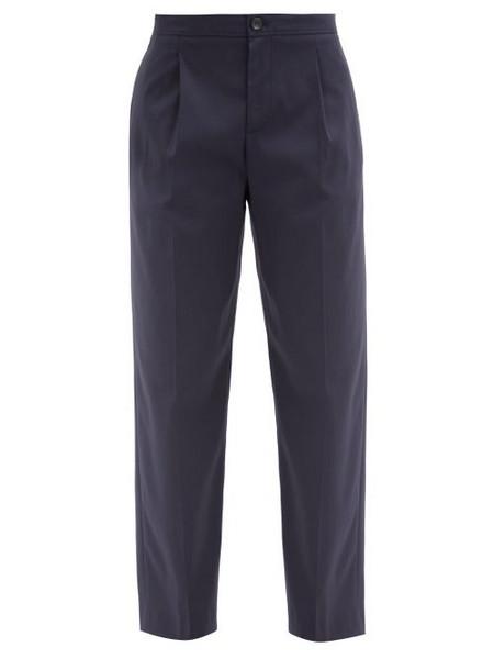 A.P.C. A.P.C. - Amalfi Cotton-crepe Trousers - Womens - Navy