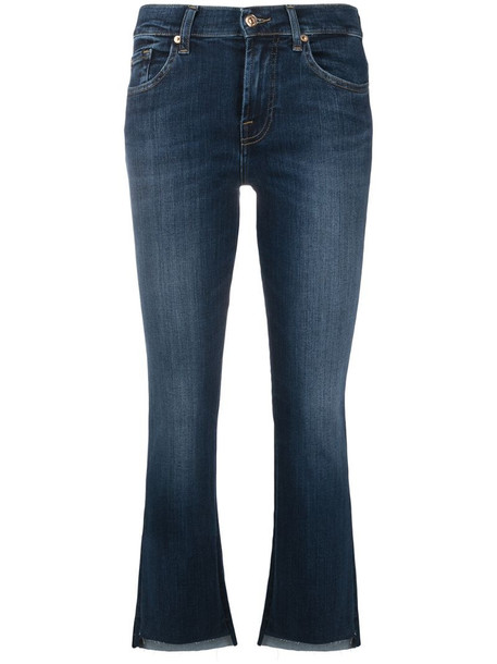 7 For All Mankind mid-rise flared jeans in blue