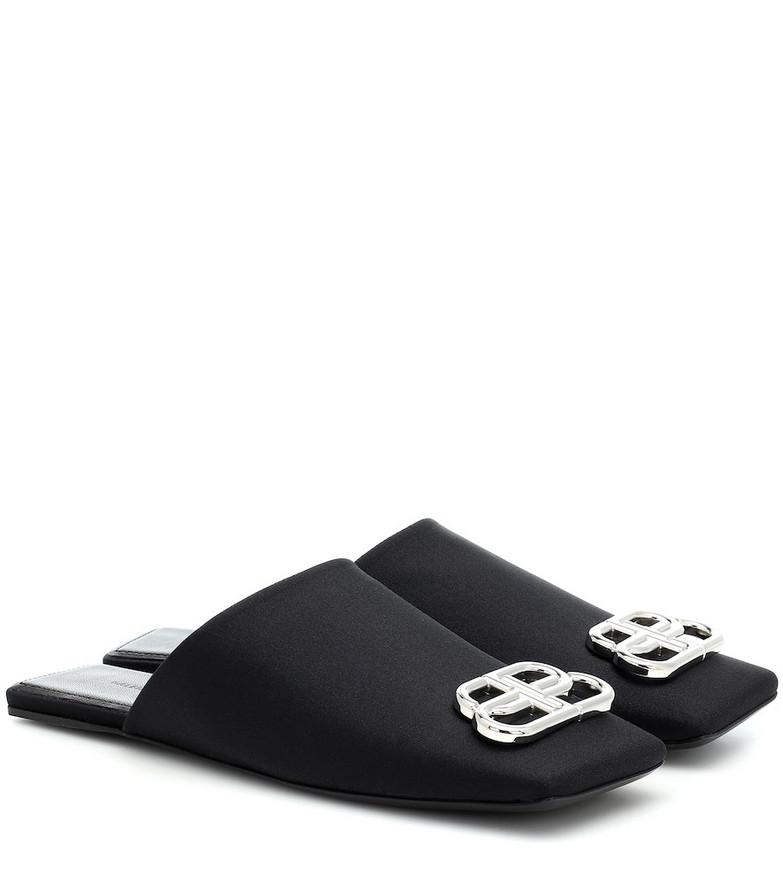 Balenciaga Double Square BB slippers in black