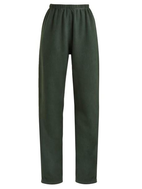 Vetements - Hem Hole Track Pants - Womens - Dark Green