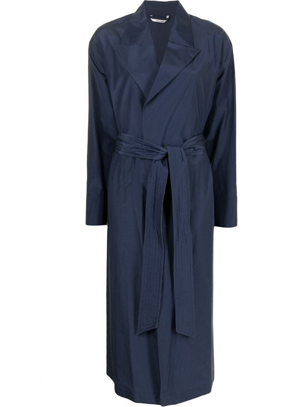 Colombo belted trench coat in blue