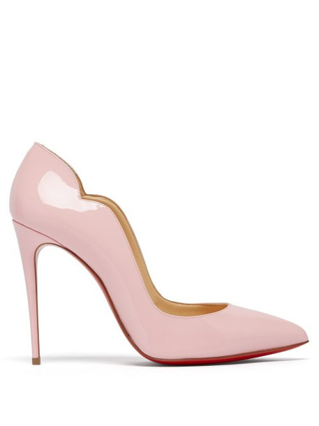 Christian Louboutin - Hot Chick 100 Patent Leather Pumps - Womens - Light Pink