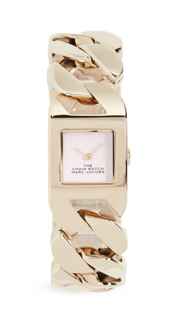 The Marc Jacobs The Chain Watch 22mm in gold / pink