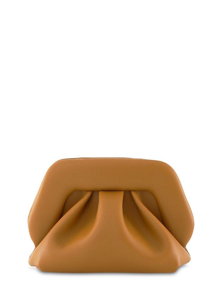 THEMOIRÈ Gea Faux Leather Clutch in camel