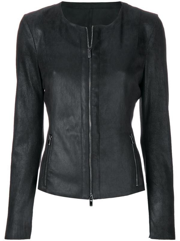 Drome slim-fit zipped jacket in black