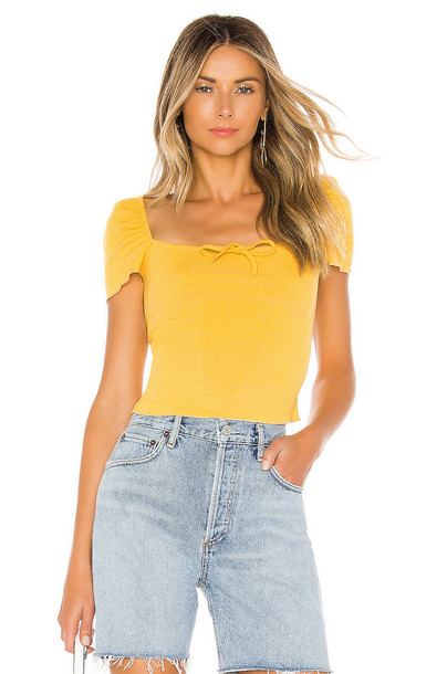 superdown Sofie Top in yellow
