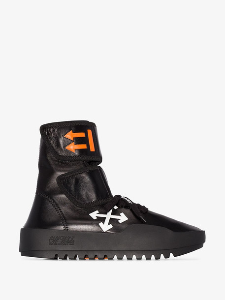 Off-White black Moto high top wrap sneakers
