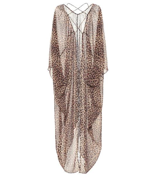 Jonathan Simkhai Leopard-print crêpe kaftan in beige