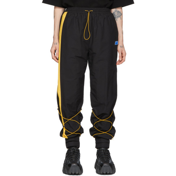 ADER error Black Inter Track Lounge Pants