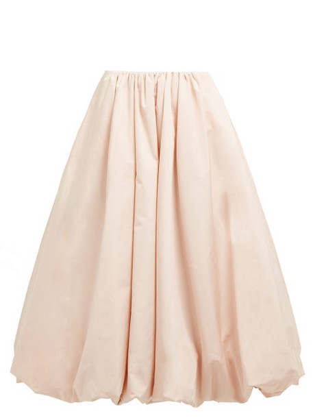 Simone Rocha - Bubble Hem Taffeta Midi Skirt - Womens - Pink