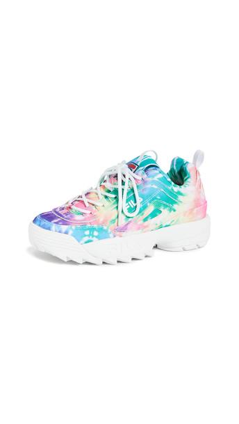Fila Disruptor II Tie Dye Sneakers in white / multi