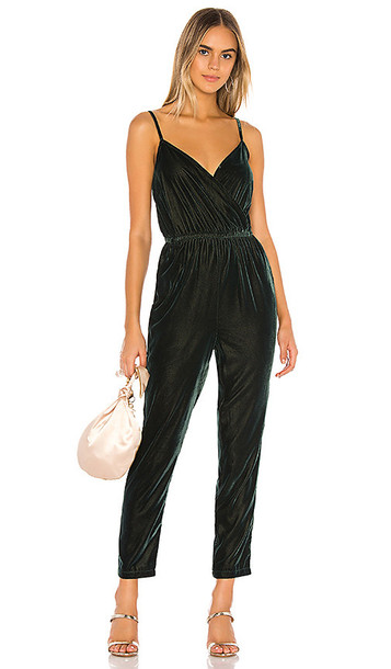 cupcakes and cashmere Budapest Jumpsuit in Dark Green