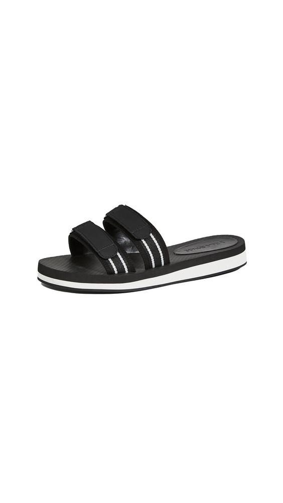 Villa Rouge Carey Sport Slides in black / white