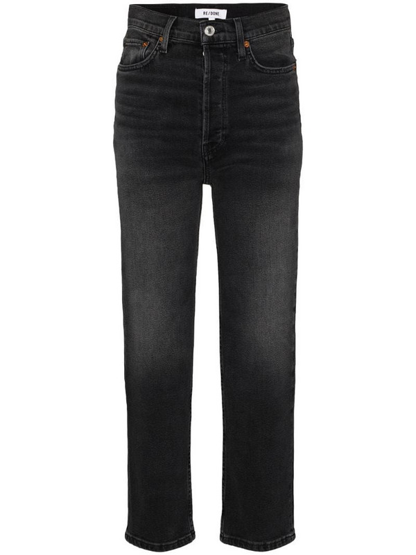 RE/DONE 70s high-rise straight-leg jeans in black