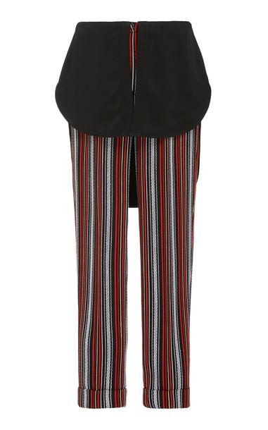 Hellessy Kooning Striped Slim-Leg Pants in black