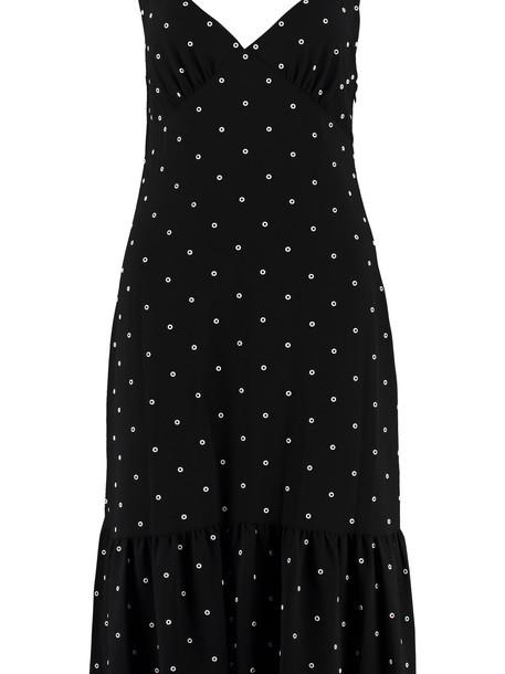 Michael Kors Crepe Slip-dress in black
